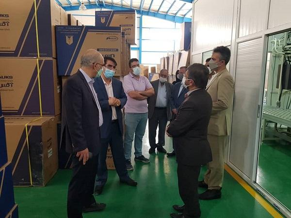 بازدید ریاست دانشگاه علم و صنعت ایران از خط تولید کارخانه زمهریر کیش